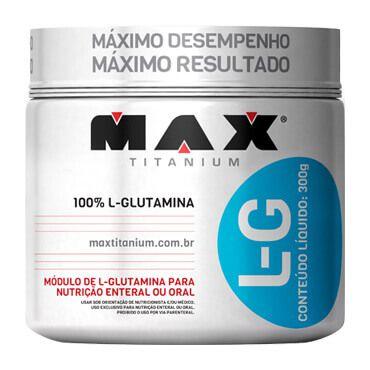L-G Glutamina - 300g - Max Titanium