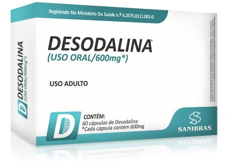 Desodalina 600mg Emagrecedor 60 Capsulas - Sanibras