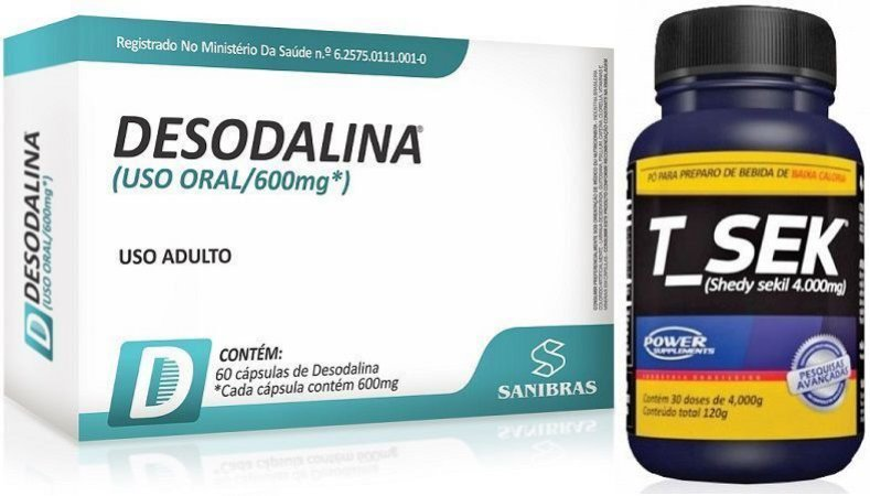 Kit Emagrecedor - Desodalina 600mg (60 Capsulas) + T-SEK (120g)