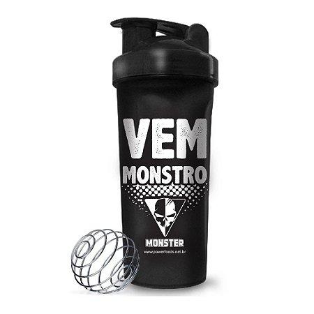 Coqueteleira Preta Vem Monstro (700ml) PowerFoods