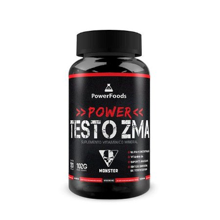 Monster Testo ZMA (120 Capsulas) PowerFoods