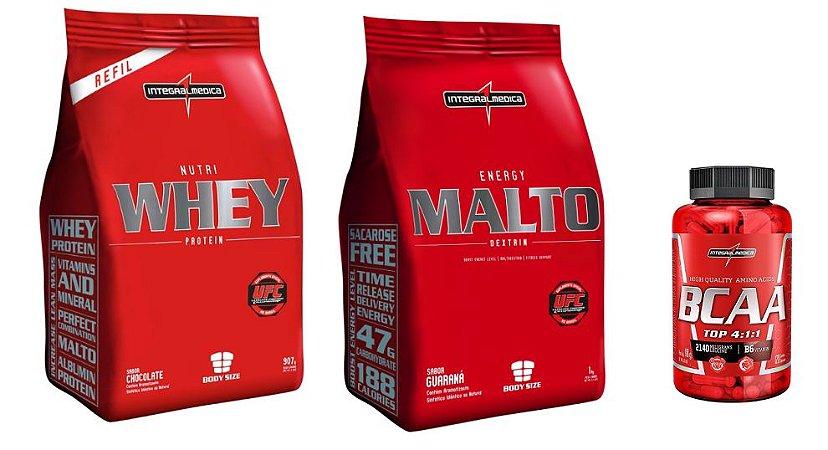 Combo Nutri Whey (907g) + BCAA (120 caps) + Maltodrextrina (1kg)
