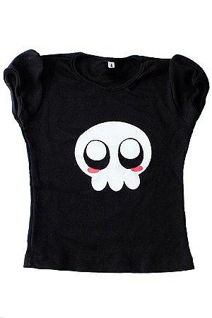 Camiseta Caveira Menina