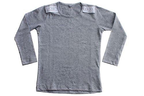 Camiseta Rendinha Manga Longa