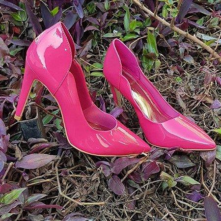 Sapato Scarpin Feminino Salto Alto Rosa Chiclet Dom Amazona Cód 31