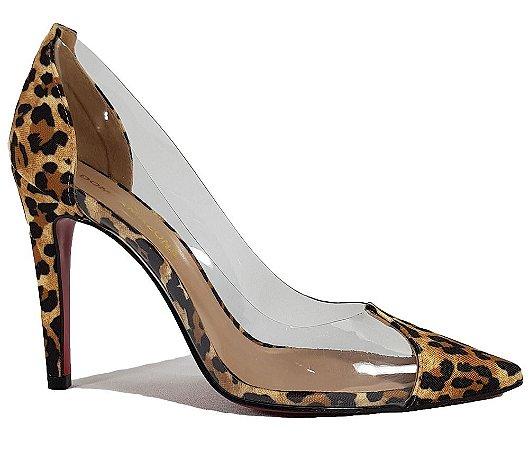 70e6e01861 sapato scarpin onça vinil transparente numeros grandes - Kalceaki ...