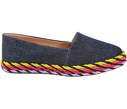Sapatilha Espadrille Jeans com Corda Numeração Especial cód 71