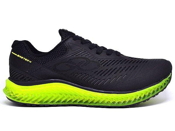 38a8b24d127 tenis olympikus gel amortecedor preto limão - Kalceaki Calçados