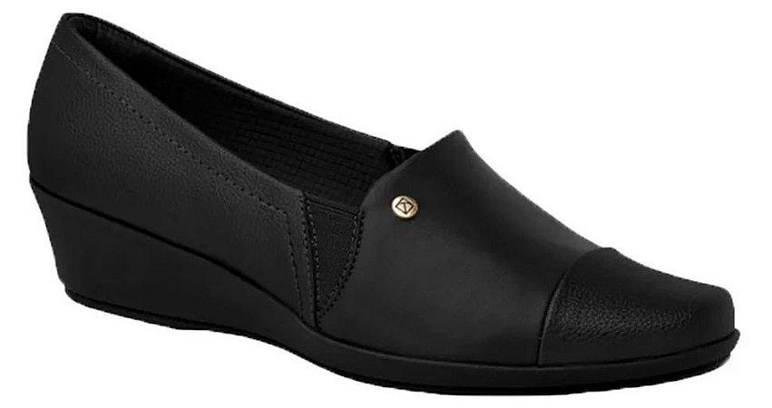 Sapato Feminino Anabela Piccadilly Conforto 144063 Preto
