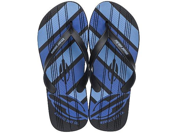 Chinelo Masculino Mormaii Tropical Graphics 10591 Preto Azul C 241