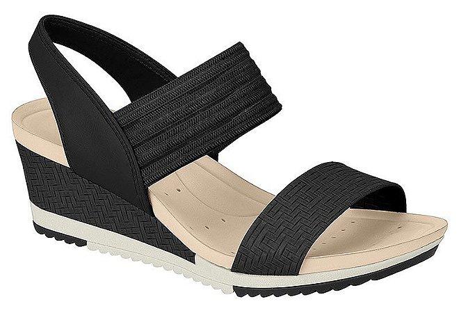 Sandalia Modare Ultra Conforto 7123 Anabela Preta