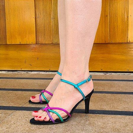 Sandália Feminina Números Grandes Nobuck Preto Colors 1250700