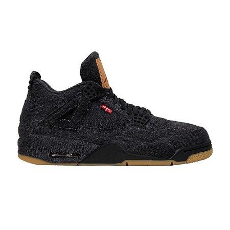 NIKE Air Jordan 4 x levis BLACK