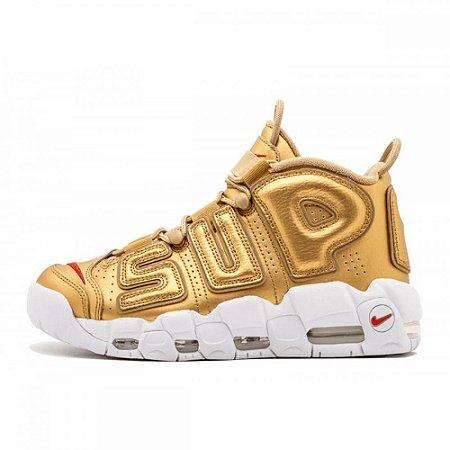 Gold Supreme x NIKE Air More Uptempo