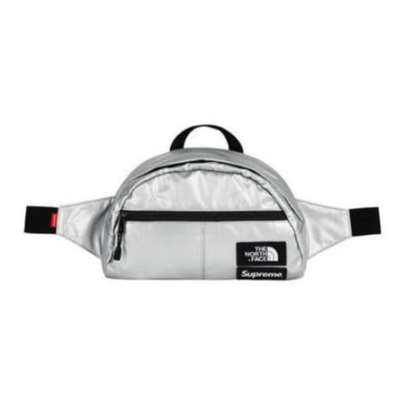 Waist Bag Supreme x The North Face Metallic Silver