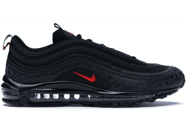 NIKE Air Max 97 All-Over Print Black Red