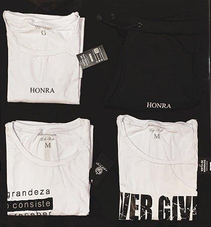 KIT PROMOCIONAL - 3 Camisetas 1 Calça Brinde