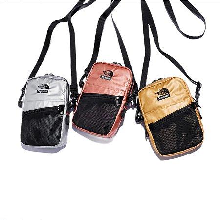 Shoulder Bag Supreme x The North Face Metallic