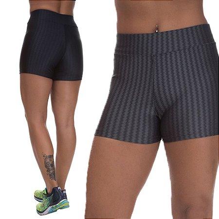 Kit 2 Shorts Cirre 3D Poliamida Preto E Cinza