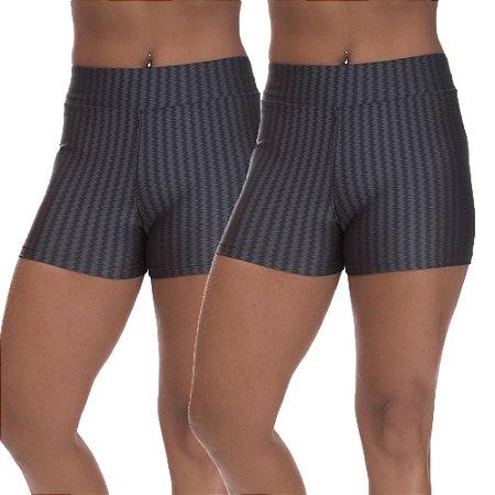 Kit 2 Shorts Cirre 3D Poliamida Cinza