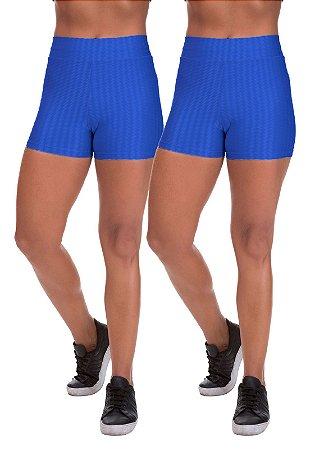 Kit 2 Shorts Cirre 3D Poliamida Azul Royal