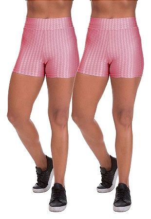 Kit 2 Shorts Cirre 3D Poliamida Rose