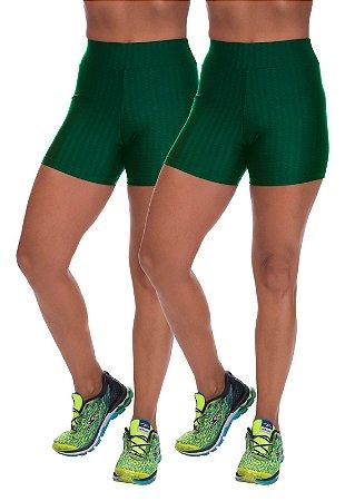 Kit 2 Shorts Cirre 3D Poliamida Verde