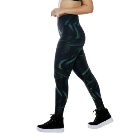 Calça Legging Feminina Estampa Digital Preto