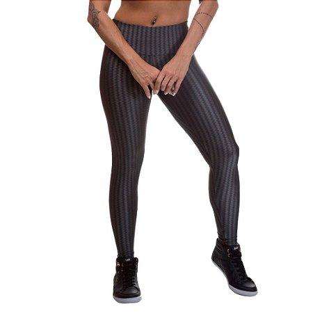 Legging Feminina 3D Poliamida Cinza