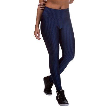 Legging Fitness Feminina 3D Cirre Azul Marinho