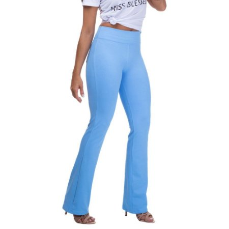 Calça Feminina Legging Bailarina Azul Claro