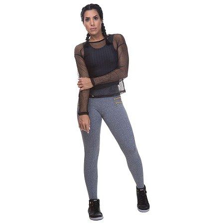 Calça Feminina Legging Montaria Mescla