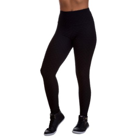Legging Feminina Texturizada Preta