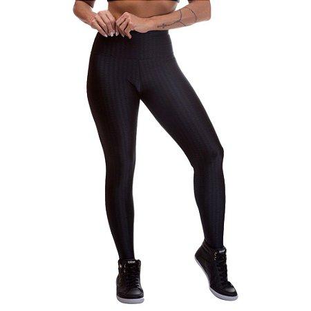 Legging Fitness Feminina 3D Cirre Preto