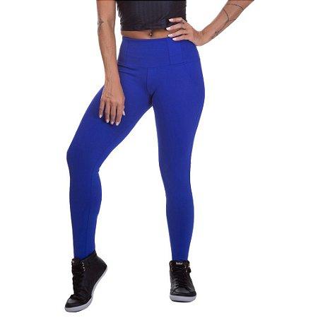 Calça Legging Feminina Poliamida Azul