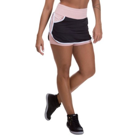 Shorts Saia Mis Blessed com Dry Fit Preto
