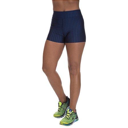 Shorts Cirre 3D Poliamida Azul Marinho