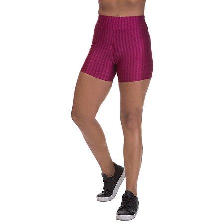 Shorts Cirre 3D Poliamida Vermelho