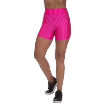 Shorts Cirre 3D Poliamida Rosa