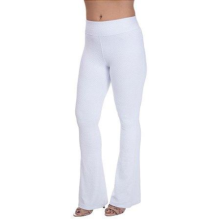 Calça Flare Feminina Confort Plus Branco