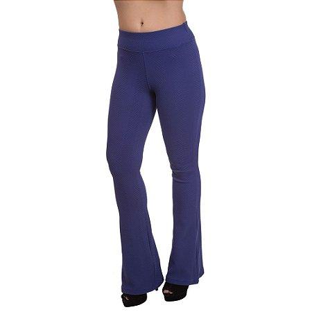 Calça Flare Feminina Confort Plus Azul Marinho