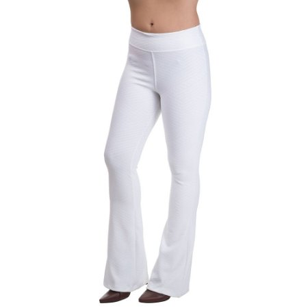 Calça Cintura Alta Flare Confort Branco