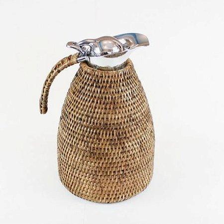 Garrafa Térmica Rattan Natural 1,5L