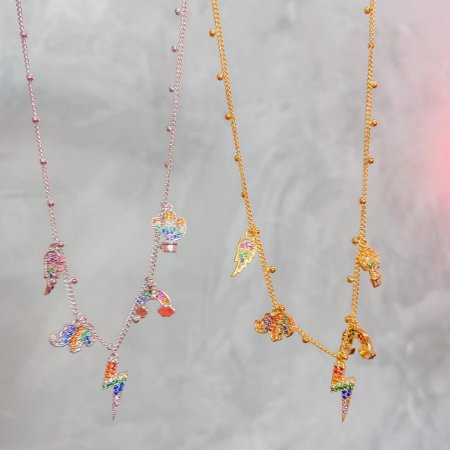 Choker Pingentes Coloridos