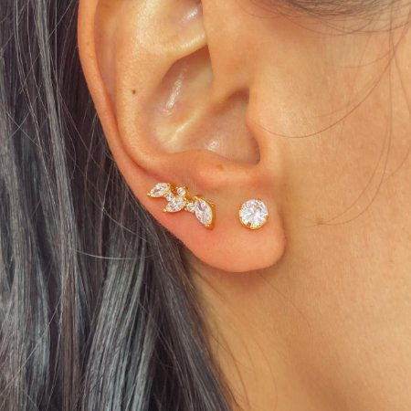 Ear Cuff Mini Navetes Ouro