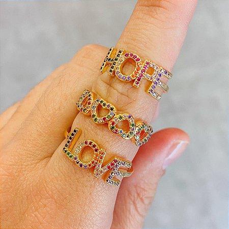 Anéis Coloridos Ouro