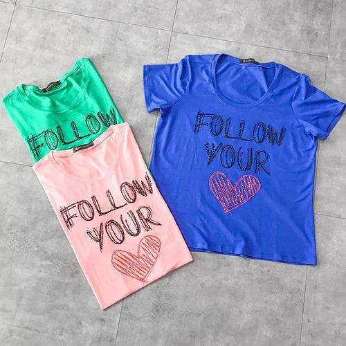 T Shirt Follow Your Heart Bordada