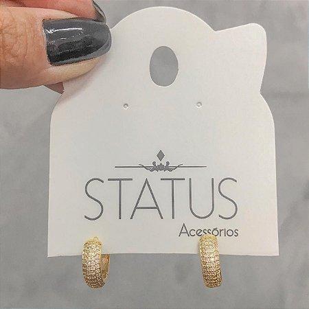 Argola Zirconia Ouro