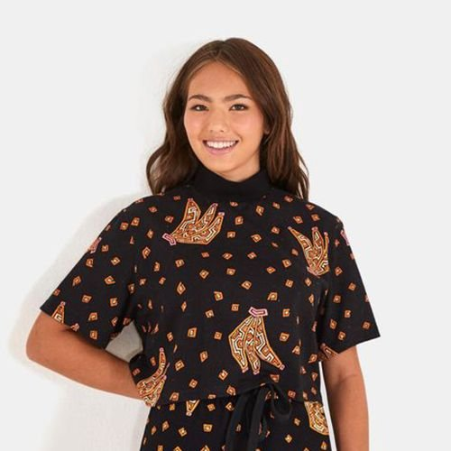 T Shirt Cropped Labirinto de Banana FARM