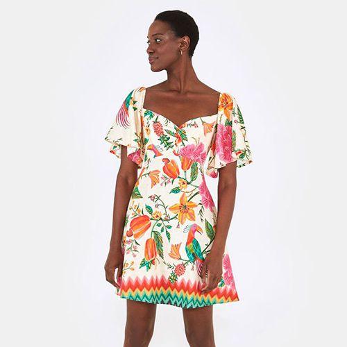 Vestido Curto Paraiso dos Abacaxis FARM